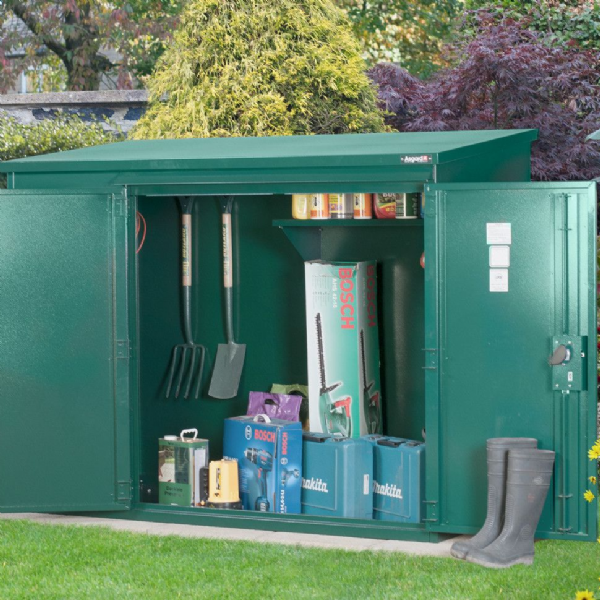 6ft x 3ft Annexe Metal Shed Police Approved
